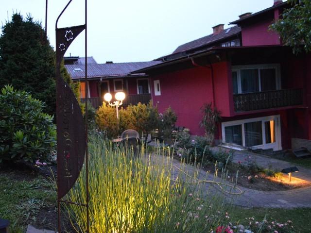 Garten Ansicht Abend