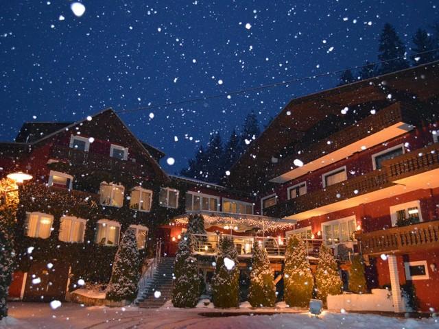 Winter Ansicht am Abend