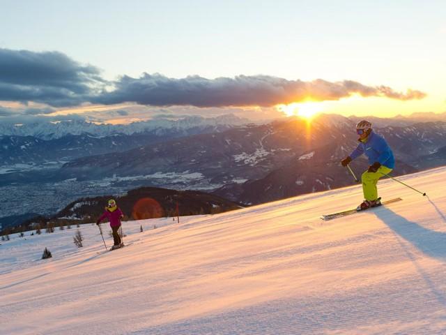 Skifahren auf der Gerlitzen Alpe